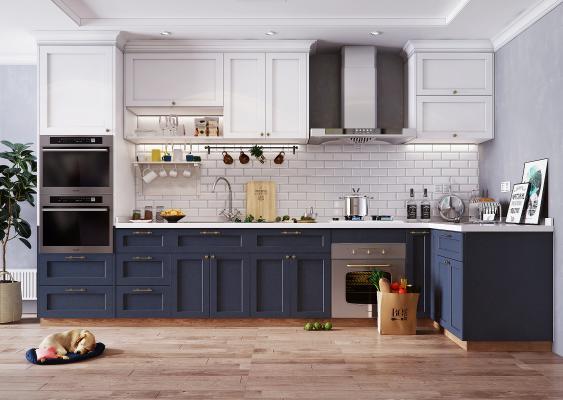 北歐廚房3D模型【ID:142832713】