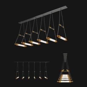现代餐厅吊灯 3D模型【ID:742345867】