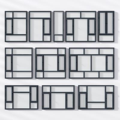 現代鋁合金窗3D模型【ID:341995251】