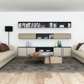 现代沙发3D模型【ID:653835745】