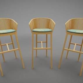 现代风格吧椅3D模型【ID:746947247】