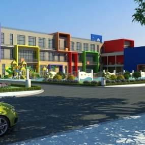 现代幼儿园3D模型【ID:132497945】