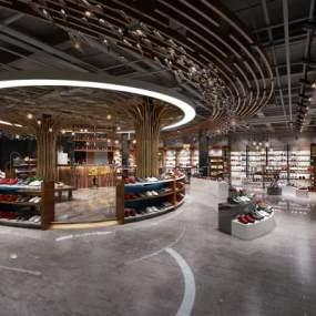工业风鞋子专卖店3D模型【ID:934837736】