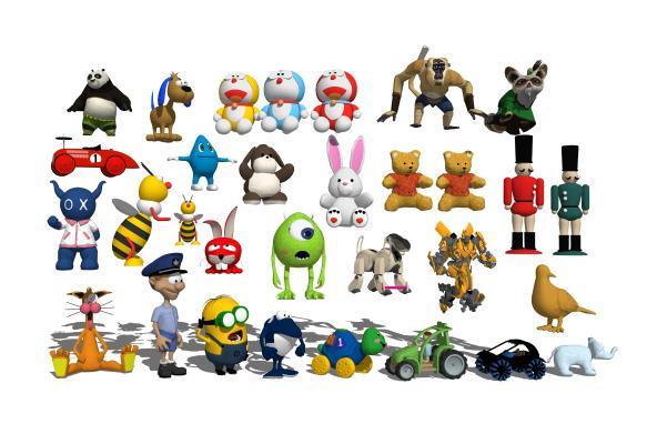 現代布偶玩具組合1SU模型【ID:147765398】