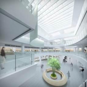 现代行政便民服务大厅3D模型【ID:933094918】