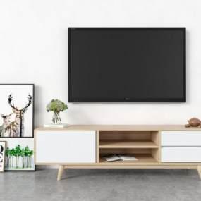 現代電視柜3D模型【ID:951163902】