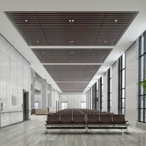医院大厅3D模型【ID:943964724】