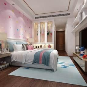 现代儿童房3D模型【ID:531760231】