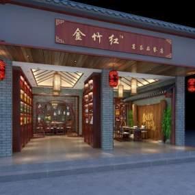 新中式茶樓3D模型【ID:651827165】