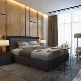 现代卧室3D模型【ID:534748255】