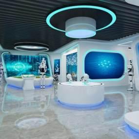 现代科技展厅3D模型【ID:945780728】