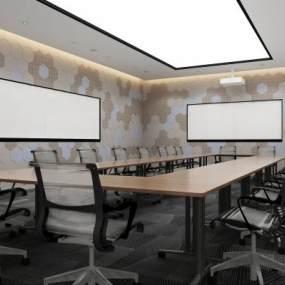 现代会议室3D模型【ID:933026138】