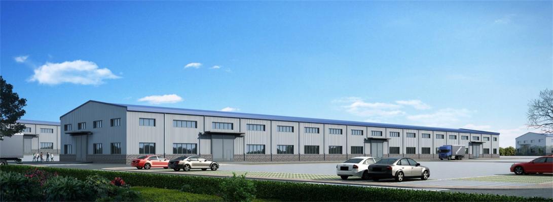 现代工业厂房3D模型【ID:246437390】