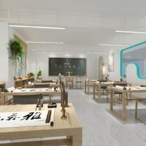 新中式幼儿园3D模型【ID:952748633】
