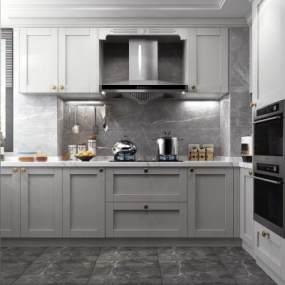 现代厨房3D模型【ID:544353371】