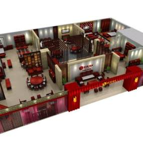 苏阳红红木家具展厅南马专卖店3D模型【ID:942294805】