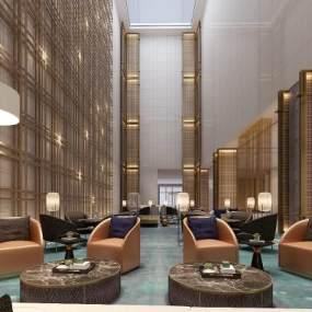 現代酒店大堂3D模型【ID:752598065】
