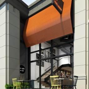 现代咖啡厅建筑3D模型【ID:146742629】