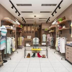 现代服装店 3D模型【ID:142045019】