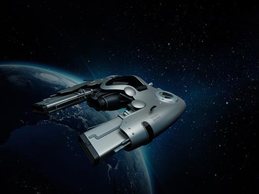 现代飞船3D模型【ID:436216992】