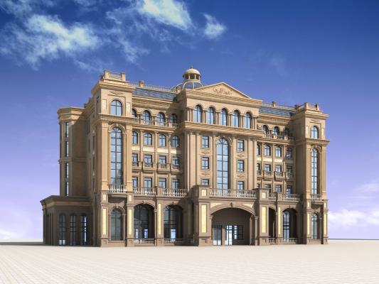 歐式別墅會所3D模型【ID:140830351】