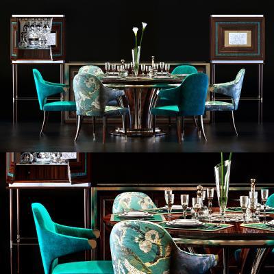 现代餐桌椅餐柜饰品国外3D模型【ID:831757888】