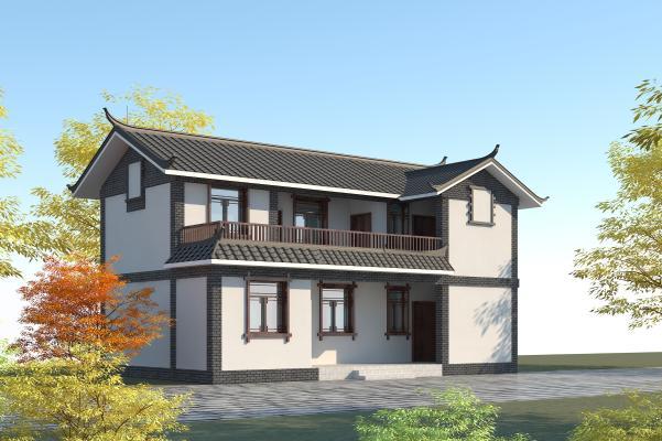 中式傳統民居3D模型【ID:146098342】