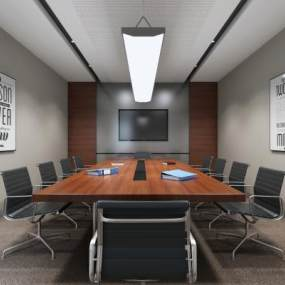 現代會議室3D模型【ID:934701179】