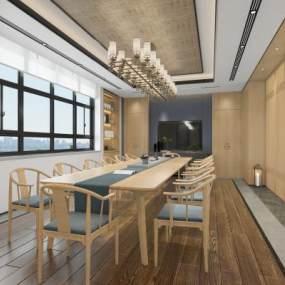 新中式茶室3D模型【ID:650627600】