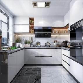 现代风格厨房3D模型【ID:544400366】