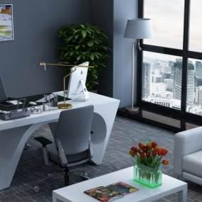 现代经理办公室3D模型【ID:949206147】