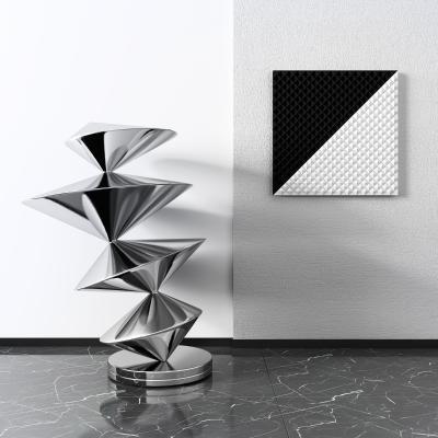 现代金属雕塑3D模型【ID:352304119】