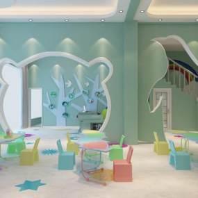 现代幼儿园3D模型【ID:944362685】
