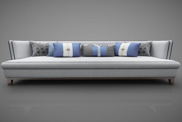 新中式风格沙发3D模型【ID:644027636】