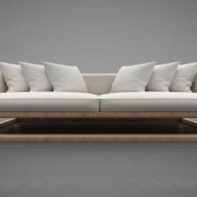 新中式风格沙发3D模型【ID:645475677】