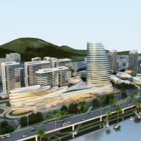 现代商业规划3D模型【ID:134162996】
