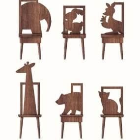 現代兒童座椅3D模型【ID:846917886】