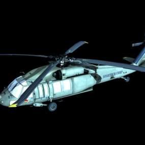 工业风军用直升机3D模型【ID:432495985】