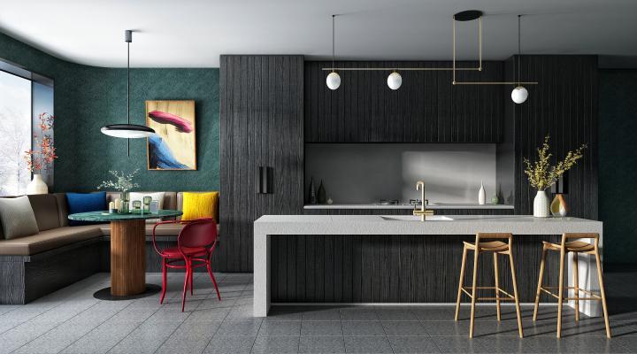 现代厨房3D模型【ID:552980337】