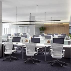 现代办公区3D模型【ID:933092008】