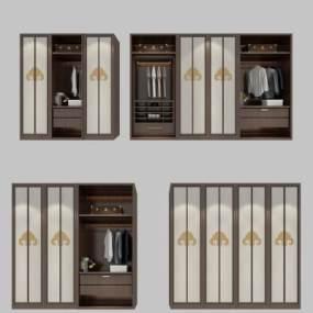 新中式衣柜3D模型【ID:135857497】
