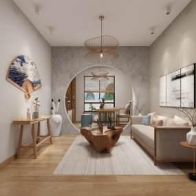 日式民宿会客厅3D模型【ID:743048006】