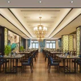 新中式餐馆餐厅3D模型【ID:635846230】