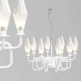 現代鐵藝幾何吊燈3D模型【ID:734825896】