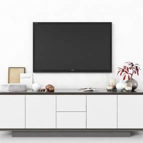 現代電視柜3D模型【ID:951163909】