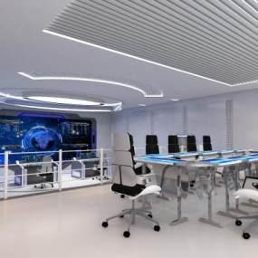 现代省会雪亮工程运管数据办公大厅3D模型【ID:931305043】