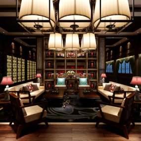 新中式飯店3D模型【ID:634416540】