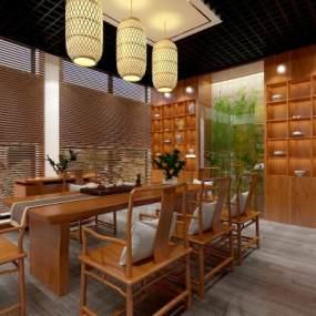 中式茶室3D模型【ID:944042881】