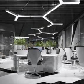 現代簡約辦公室3D模型【ID:951010086】