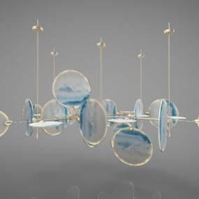 新中式风格吊灯3D模型【ID:744297847】